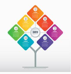 brochure design template business presentation vector image