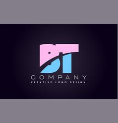 Bt alphabet letter join joined letter logo design vector
