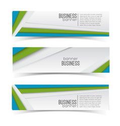 business geometric infographic horizontal banners vector image