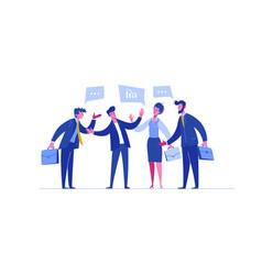 Business person negotiation investment portfolio vector