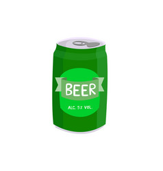 canned beer isolated on white background vector image