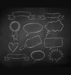 chalk drawing speech bubbles vector image