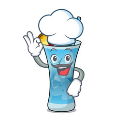 chef blue hawaii character cartoon vector image