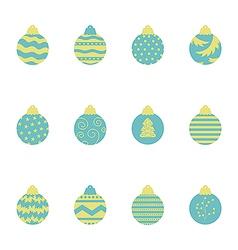 Christmas balls pattern 2 vector image