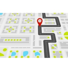 City map with road vector image