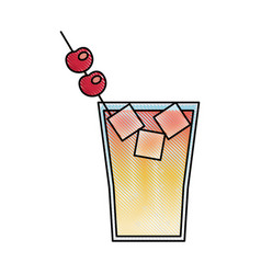 cocktail drink fruit juice alcoholic cold vector image