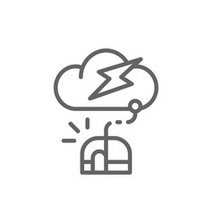 computer mouse with cloud server line icon vector image