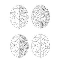 contours for coloring faceted gem on white vector image