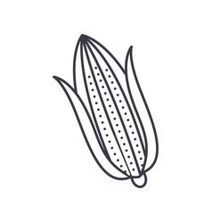 corn line icon sign on vector image