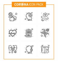 coronavirus prevention 25 icon set blue clinical vector image
