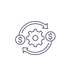 Costs optimization and efficiency icon line vector