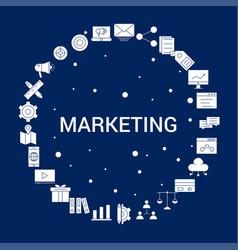 creative marketing icon background vector image