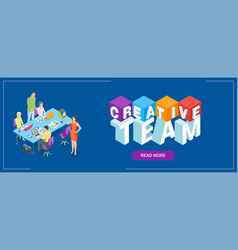 Creative team banner vector