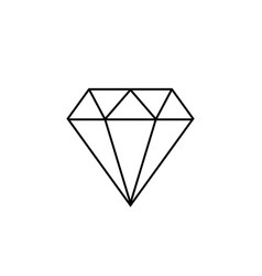 diamond icon ign vector image