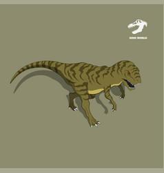 Dinosaur tyrannosaur in isometric style vector