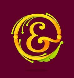 E letter monogram design elements vector