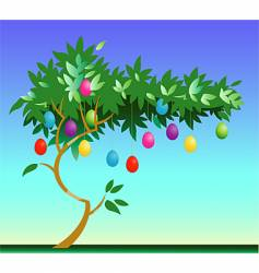 Easter egg tree vector image