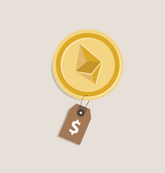 ethereum price value currency coin exchange rate vector image