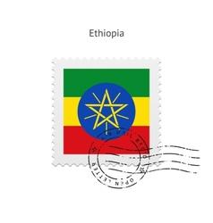 Ethiopia Flag Postage Stamp vector
