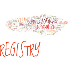Fix your computer how to clean registry text vector