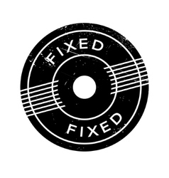 Fixed rubber stamp vector