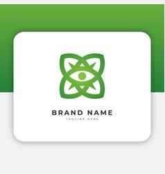 flower eye logo design inspiration vector image