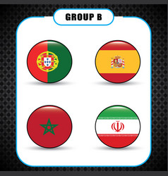 football championship flags group b vector image