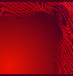 greeting card of red lines made of smoke on a vector image