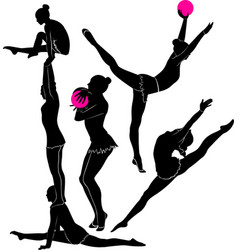 Gymnast athlete vector