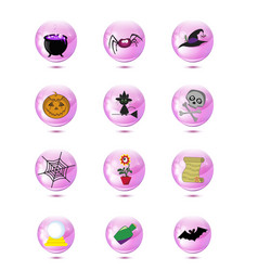 Halloween or magic icons isolated clip art vector
