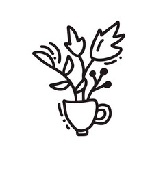 Hand drawn doodle tea cup vector