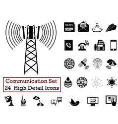 icon set communication vector image