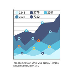 Infographic with text figures statistics chart vector