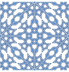 Intricate moorish eastern pattern vector