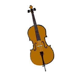 Isolated cello vector