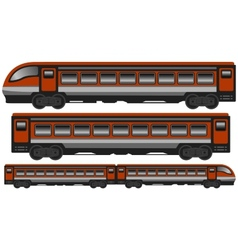 isolated modern train vector image