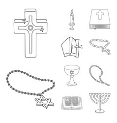 isolated object of muslim and items logo vector image