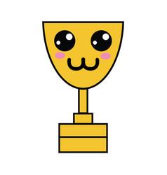 Kawaii cute tender prize cup vector