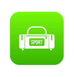 Large sports bag icon digital green vector