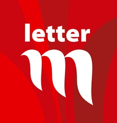 Logo the letter M on a red background vector