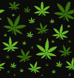 Marijuanagreen weed dope seamless pattern vector