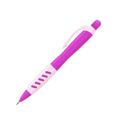 Mechanical pencil in purple case with rubber grip vector