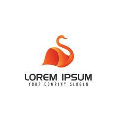 modern swan logo vector image