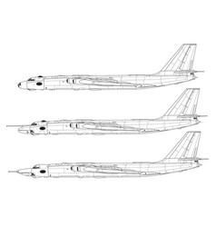 Myasishev m-4 and 3m bison vector