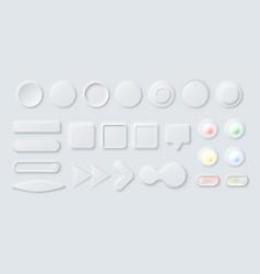 neumorphic elements vector image