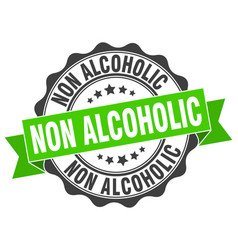Non alcoholic stamp sign seal vector