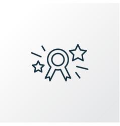 Page rank badge icon line symbol premium quality vector