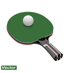 racket for ping pong ball in vector image