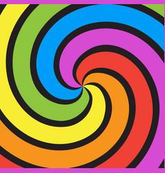 rainbow swirl background vector image