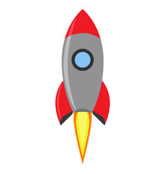 rocket launch creative space flight idea symbol vector image